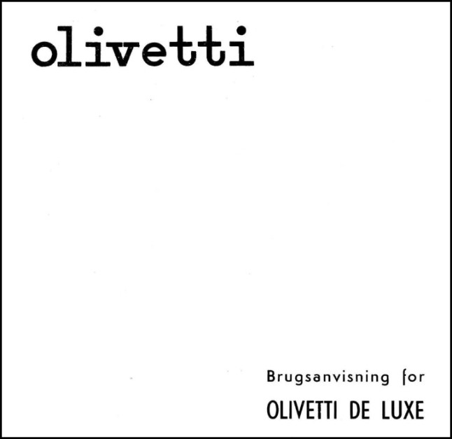 Instructions for Olivetti De Luxe