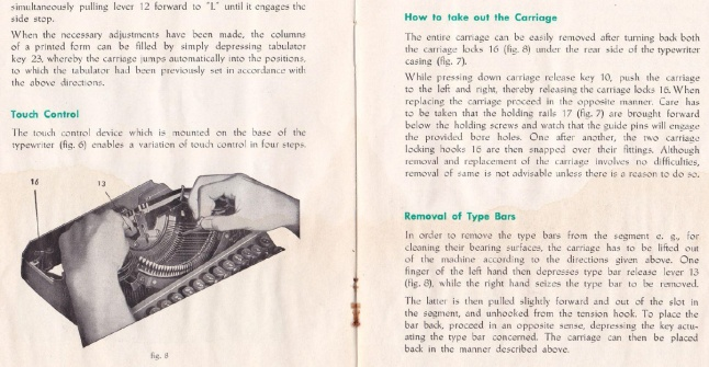 click to view larger - Rheinmetall KsT User Manual, The Classic Typewriter Page manuals archive