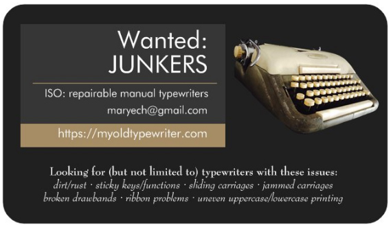 Myoldtypewriter.com business card
