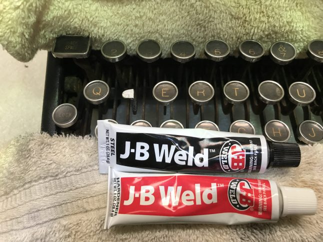 JB Weld used to re-attach keytop